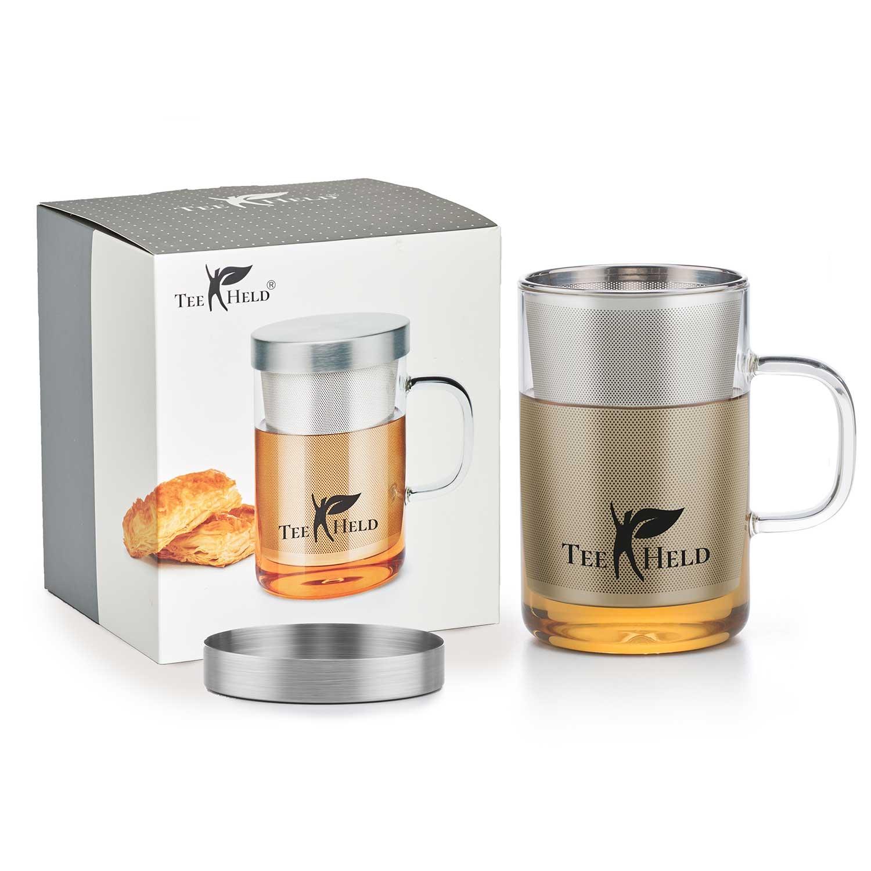 Teetasse mit Deckel und Sieb - Teeheld S1 - TEEHELD